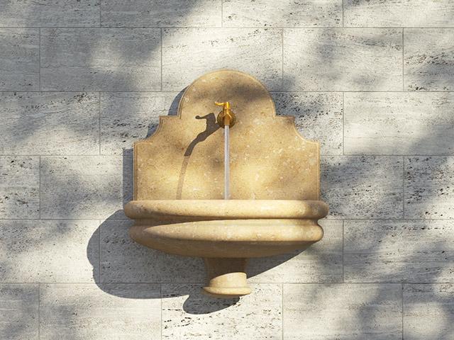 Fonta a muro liscia - Grassi Pietre