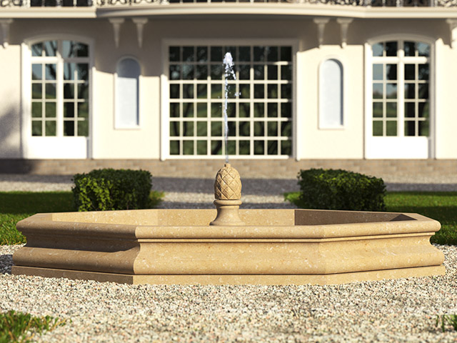 Fontana bacino singolo a terra - Grassi Pietre