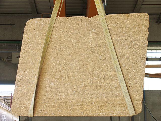 Grassi Pietre - Lastra di pietra di Vicenza Giallo Dorato corteccia