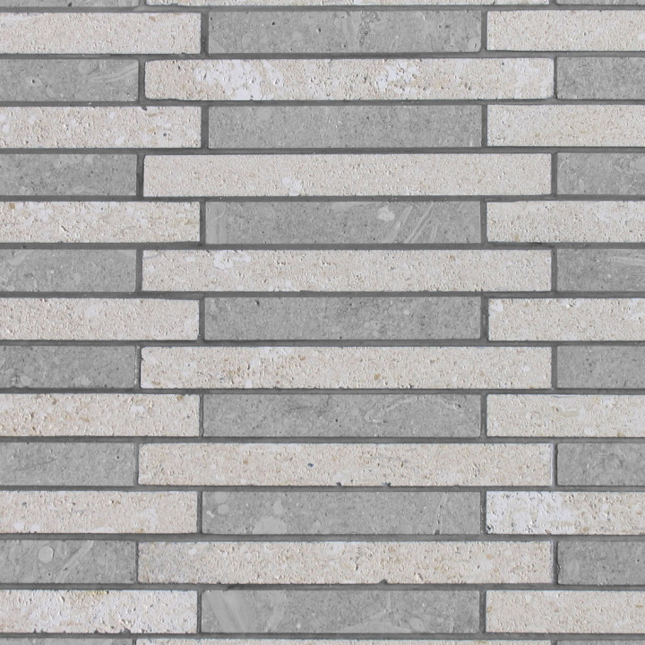 grigio alpi mosaico 10x1,5 burattato