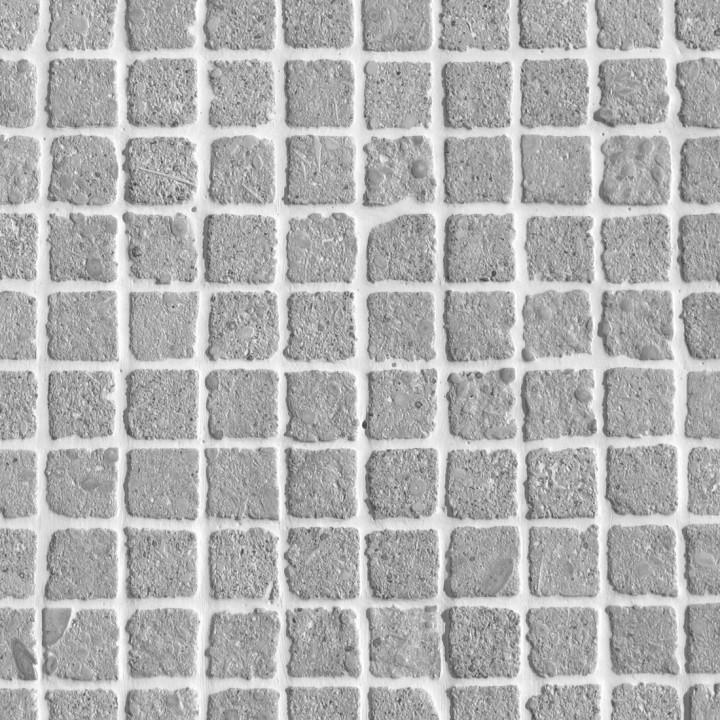grigio argento mosaico 2x2 burattato