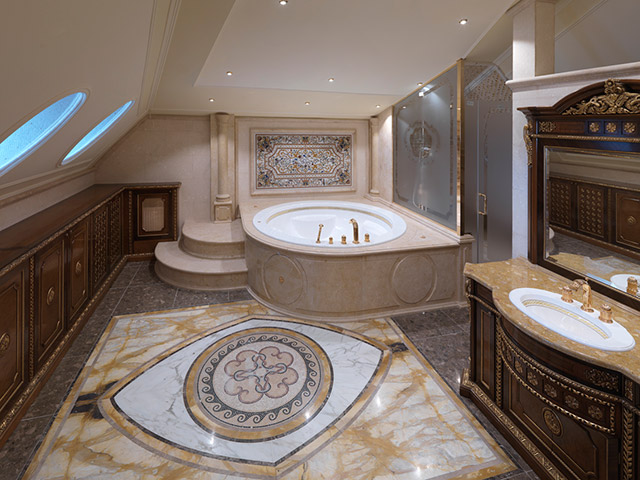 Stone bath elements and spa grassi pietre for Marmo arredo spa
