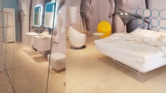 FuoriSalone 2017: Grassi Pietre scolpisce il successo del Heart's Service Apartments.