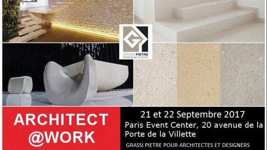 Grassi Pietre a Parigi per Architect@work