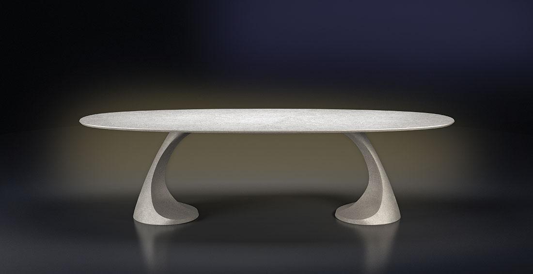 Tavolo Pedra design Iosa Ghini per Grassi Pietre